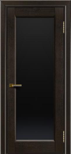 Двери ЛайнДор Мальта тон 31 стекло черное