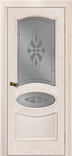 Двери ЛайнДор Оливия ясень жемчуг тон 27 стекло Византия