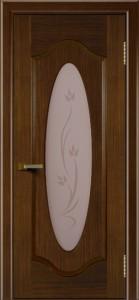 Двери ЛайнДор Орбита орех тон 2 стекло Алина