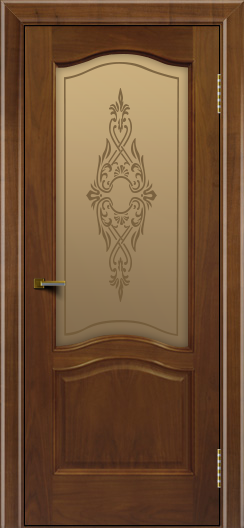 Двери ЛайнДор Пронто американский орех тон 23 стекло Айрис бронза