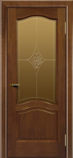 Двери ЛайнДор Пронто американский орех тон 23 стекло Амелия бронза