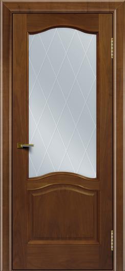 Двери ЛайнДор Пронто американский орех тон 23 стекло Лондон
