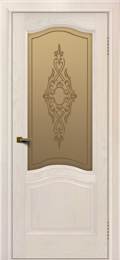 Двери ЛайнДор Пронто ясень жемчуг тон 27 стекло Айрис бронза