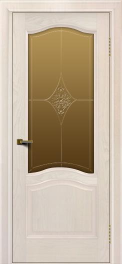 Двери ЛайнДор Пронто ясень жемчуг тон 27 стекло Амелия бронза