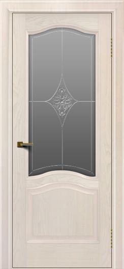 Двери ЛайнДор Пронто ясень жемчуг тон 27 стекло Амелия