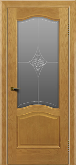 Двери ЛайнДор Пронто ясень тон 24 стекло Амелия