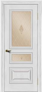 Двери ЛайнДор Агата тон 38 стекло Лилия бронза