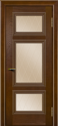 Двери ЛайнДор Афина тон 30 стекло Лондон бронза