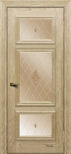 Двери ЛайнДор Афина тон 40 стекло Лилия бронза