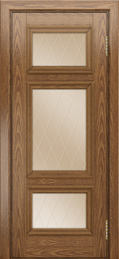 Двери ЛайнДор Афина тон 45 стекло Лондон бронза