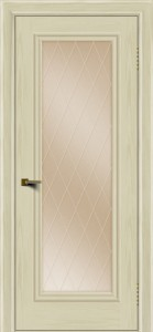 Двери ЛайнДор Валенсия тон 34 стекло Лондон бронза