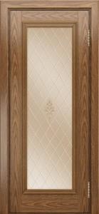 Двери ЛайнДор Валенсия тон 45 стекло Лилия бронза