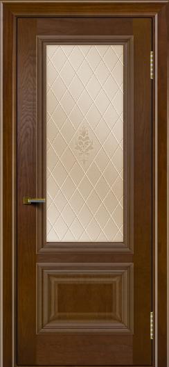 Двери ЛайнДор Виолетта тон 30 стекло Лилия бронза