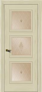 Двери ЛайнДор Грация тон 34 стекло Лилия бронза