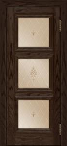 Двери ЛайнДор Грация тон 39 стекло Лилия бронза