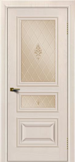 Двери ЛайнДор Агата Жемчуг тон 27 стекло Лилия бронза