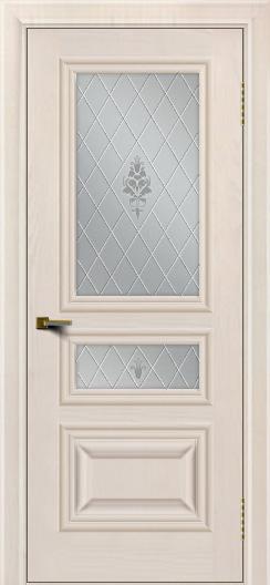 Двери ЛайнДор Агата Жемчуг тон 27 стекло Лилия