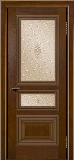 Двери ЛайнДор Агата тон 30 стекло Лилия бронза