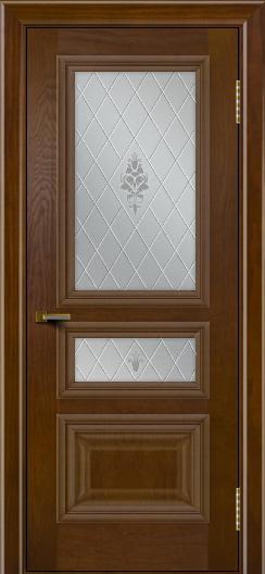 Двери ЛайнДор Агата тон 30 стекло Лилия