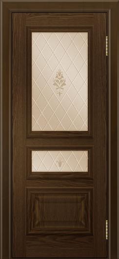 Двери ЛайнДор Агата тон 35 глухая стекло Лилия бронза