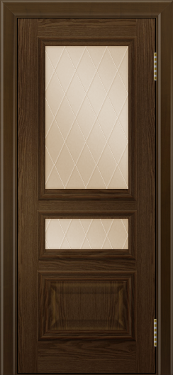Двери ЛайнДор Агата тон 35 глухая стекло Лондон бронза