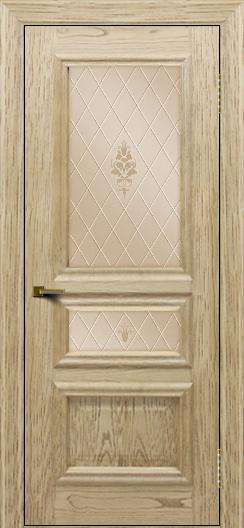 Двери ЛайнДор Агата тон 40 стекло Лилия бронза