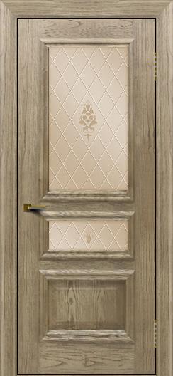 Двери ЛайнДор Агата тон 41 стекло Лилия бронза