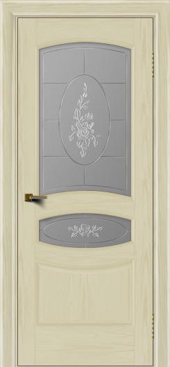 Двери ЛайнДор Алина тон 34 стекло Роза