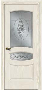 Двери ЛайнДор Алина 2 тон 36 стекло 3Д Роза