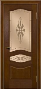 Двери ЛайнДор Амелия тон 30 стекло Византия бронза