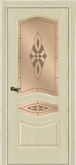 Двери ЛайнДор Амелия тон 34 стекло Византия бронза