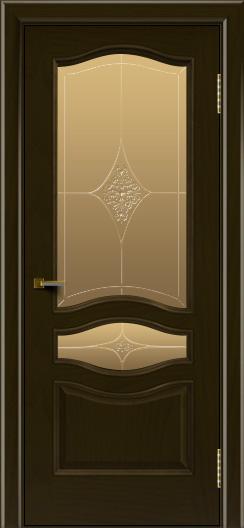 Двери ЛайнДор Амелия тон 35 стекло Амелия бронза