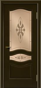 Двери ЛайнДор Амелия тон 35 стекло Византия бронза