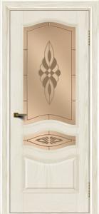 Двери ЛайнДор Амелия тон 36 стекло Византия бронза