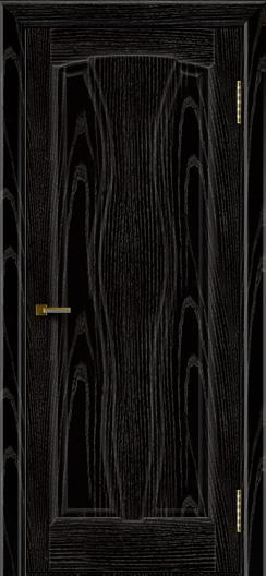 Двери ЛайнДор Анжелика 2 эмаль черная тон 26 глухая