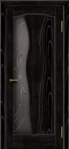 Двери ЛайнДор Анжелика 2 эмаль черная тон 26 стекло Анжелика