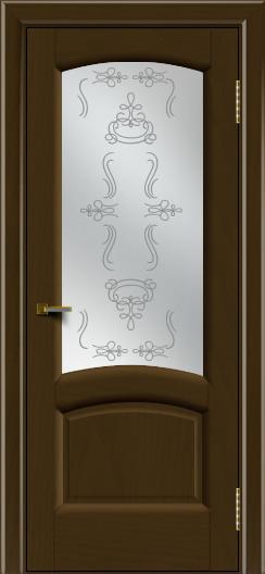 Двери ЛайнДор Анталия 2 тон 29 стекло Пальмира сатин