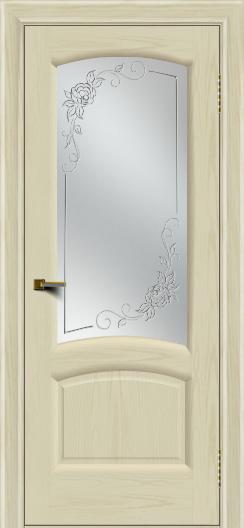 Двери ЛайнДор Анталия 2 тон 34 стекло 3Д Роза