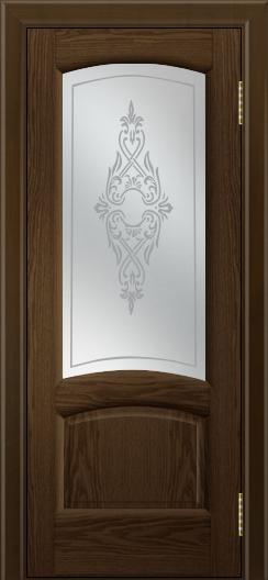 Двери ЛайнДор Анталия 2 тон 35 стекло Айрис сатин