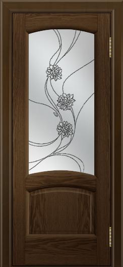 Двери ЛайнДор Анталия 2 тон 35 стекло Астра темная