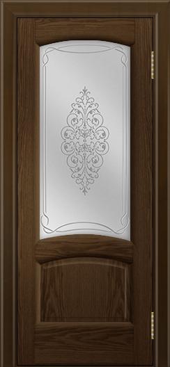 Двери ЛайнДор Анталия 2 тон 35 стекло Вива сатин