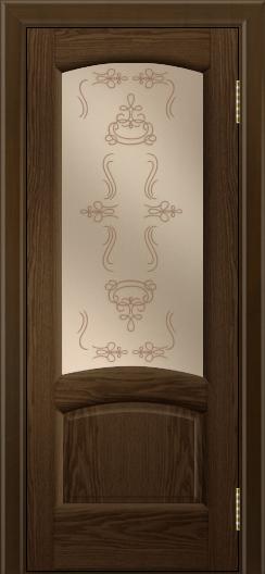 Двери ЛайнДор Анталия 2 тон 35 стекло Пальмира бронза