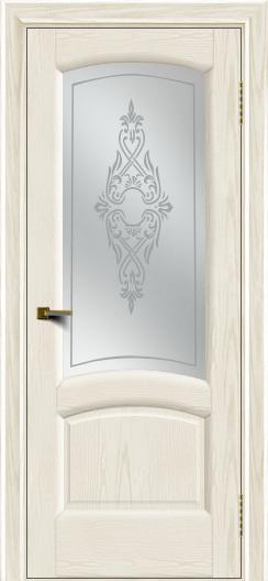 Двери ЛайнДор Анталия 2 тон 36 стекло Айрис сатин