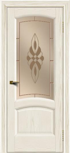 Двери ЛайнДор Анталия 2 тон 36 стекло Византия бронза