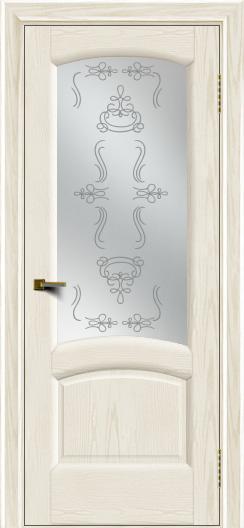 Двери ЛайнДор Анталия 2 тон 36 стекло Пальмира сатин