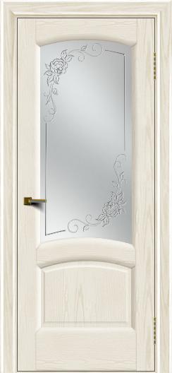 Двери ЛайнДор Анталия 2 тон 36 стекло 3Д Роза