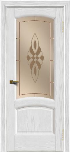 Двери ЛайнДор Анталия 2 тон 38 стекло Византия бронза