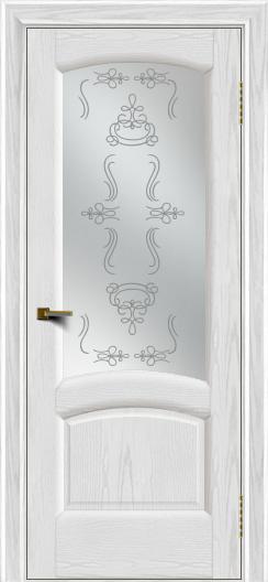 Двери ЛайнДор Анталия 2 тон 38 стекло Пальмира сатин