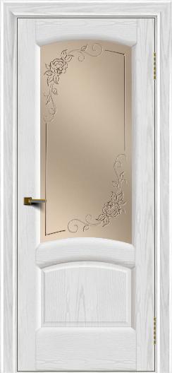 Двери ЛайнДор Анталия 2 тон 38 стекло 3Д Роза бронза