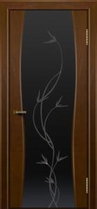 Двери ЛайнДор Арабика тон 30 стекло Флора